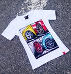 Japan Racing - T-Shirt Hvid (XS) Kvinder()