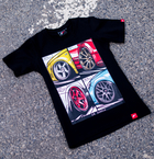 Japan Racing - T-Shirt Sort (XS) Kvinder()