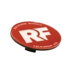 Rotiform RF Centerkapsel Rød Med Sølv RF(32170RC)