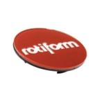 Rotiform Centerkapsel Rød Med Sølv Rotiform(32170RCS)