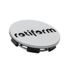Rotiform Centerkapsel Sølv Med Sort Rotiform(1003-40SB)