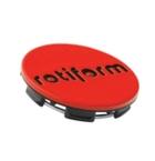 Rotiform Centerkapsel Rød Med Sort Rotiform(1003-40RB)