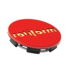 Rotiform Centerkapsel Rød Med Guld Rotiform(1003-40RG)