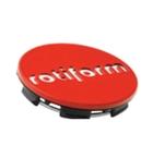Rotiform Centerkapsel Rød Med Sølv Rotiform(1003-40RC)