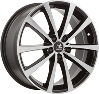 "It wheels Alice Gloss Black & Polished 17"""