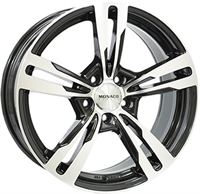 Monaco Grandprix 4 Black & Polished 17""