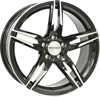 Monaco Grandprix Gloss Black & Polished 17""