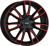 MAK Mak Jackie Anodized Red Black 15""