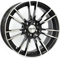 Monaco MC8 Gloss Black & Polished 18""
