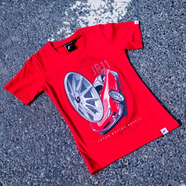 Japan Racing - T-Shirt JR11 Rød (XS) Kvinder