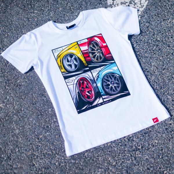 Japan Racing - T-Shirt Hvid (S) Mænd