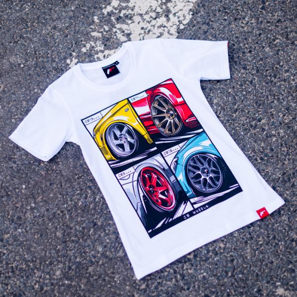 Japan Racing - T-Shirt Hvid (XS) Kvinder