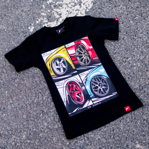 Japan Racing - T-Shirt Sort (XS) Kvinder