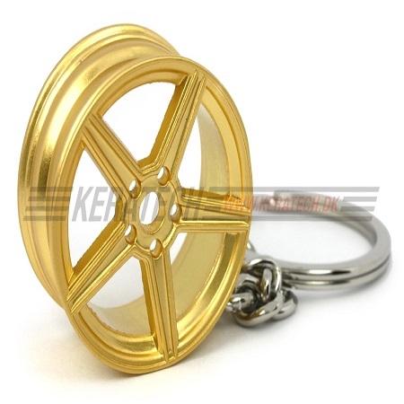Mercedes nøglering guld