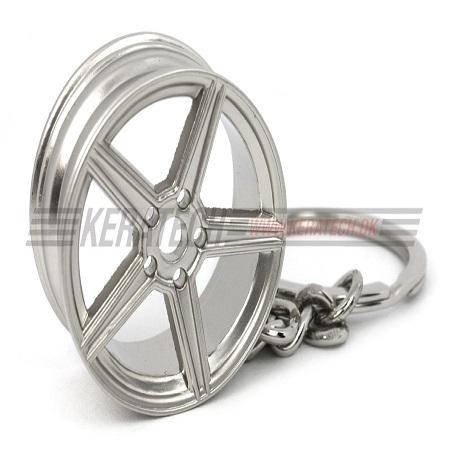 Mercedes nøglering sølv