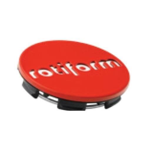 Rotiform Centerkapsel Rød Med Sølv Rotiform