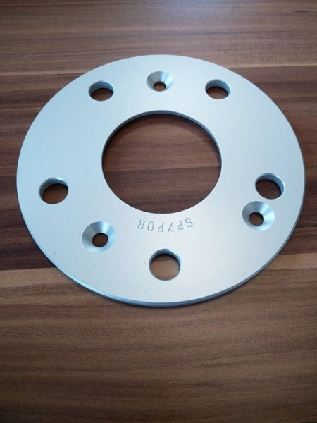 Spacer 5x130 ø71,6 T=7 mm